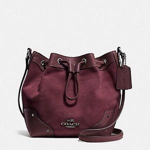 Coach maroon crossbody purse